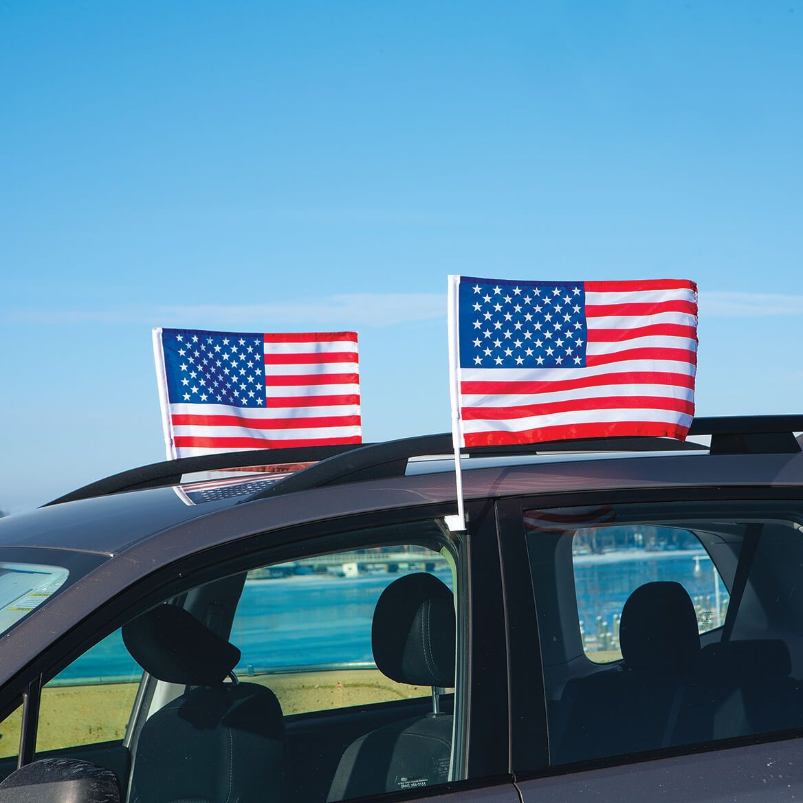 Auto American Flags, Set of 2-371910