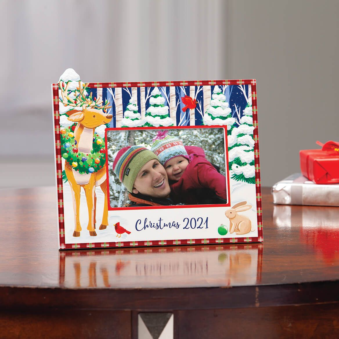 Personalized Woodland Friends Christmas Frame-371934