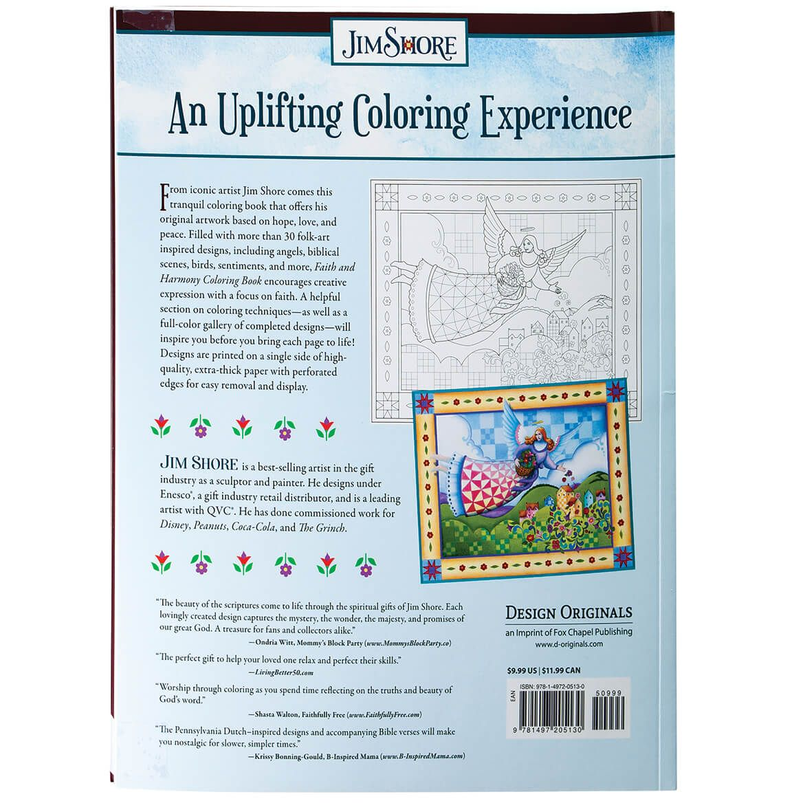Jim Shore Faith and Harmony Coloring Book-371985