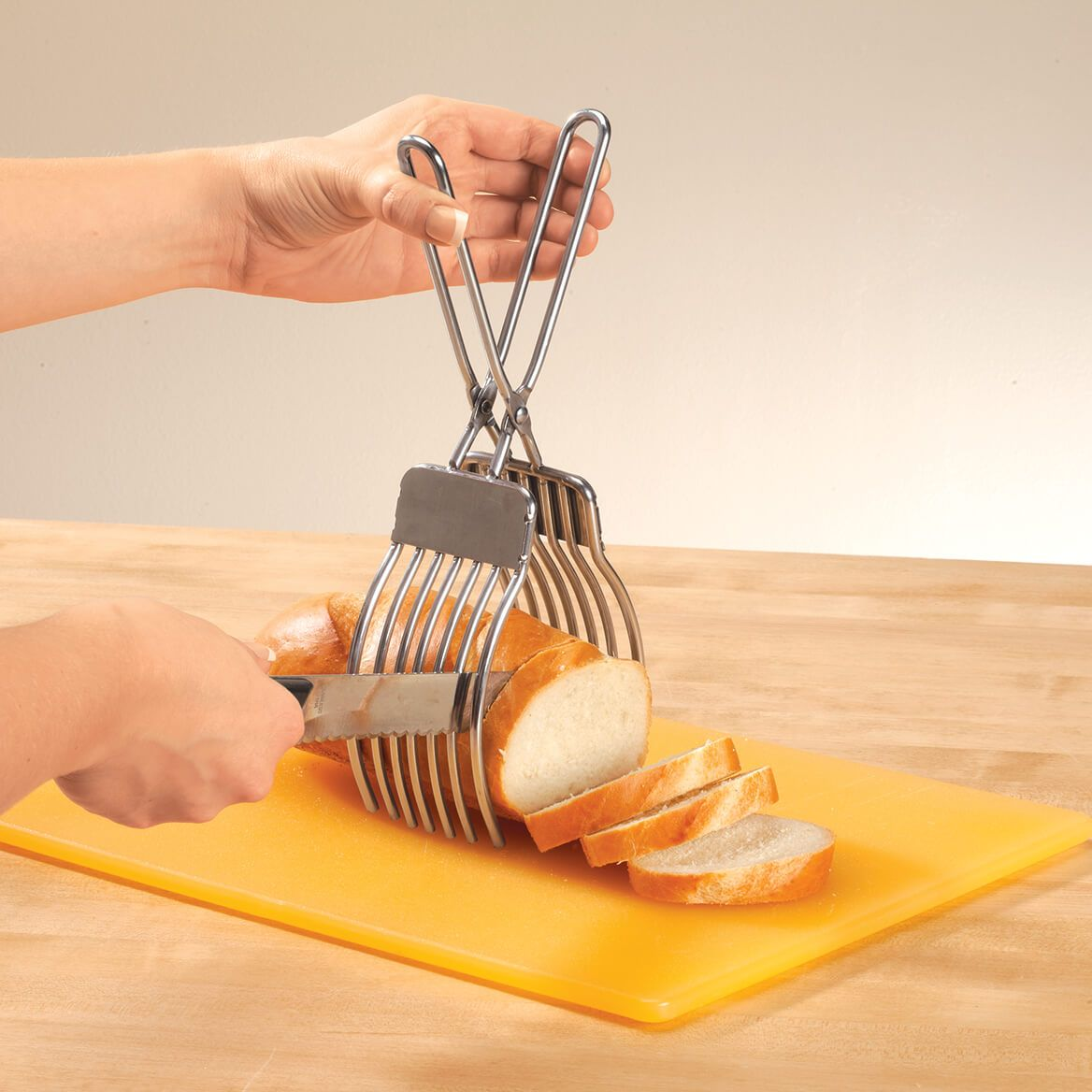 Stainless Steel Meat Slicing Tongs-372012