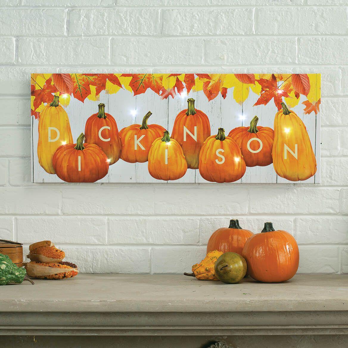 Personalized Pumpkin Last Name Canvas-372026