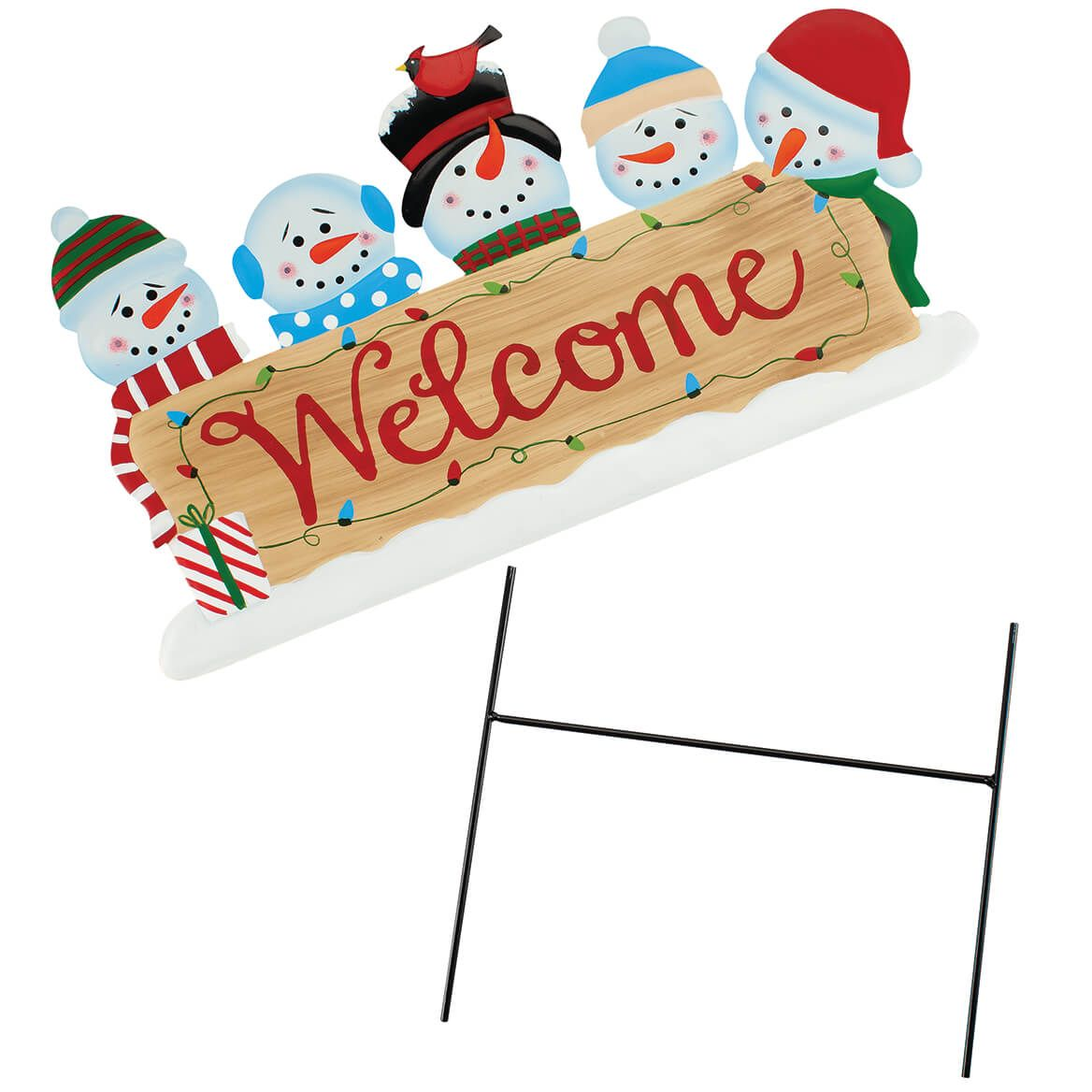Welcome Snowman Metal Yard Stake by Fox River™ Creations-372081