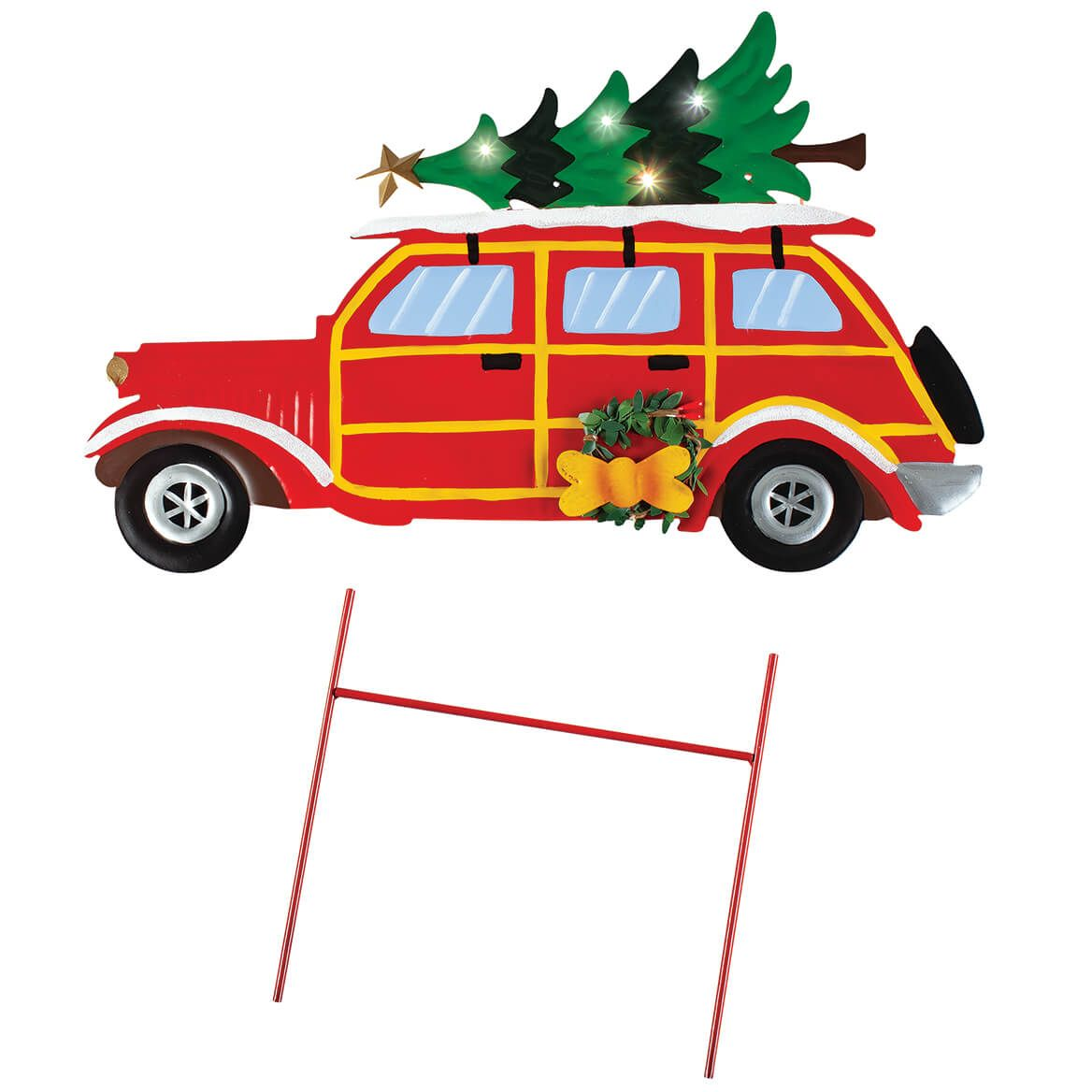 Vintage Christmas Car Solar Stake by Fox River™ Creations-372163