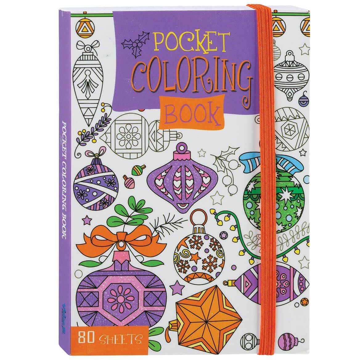Kids' Pocket Size Christmas Coloring Books, Set of 4-372225