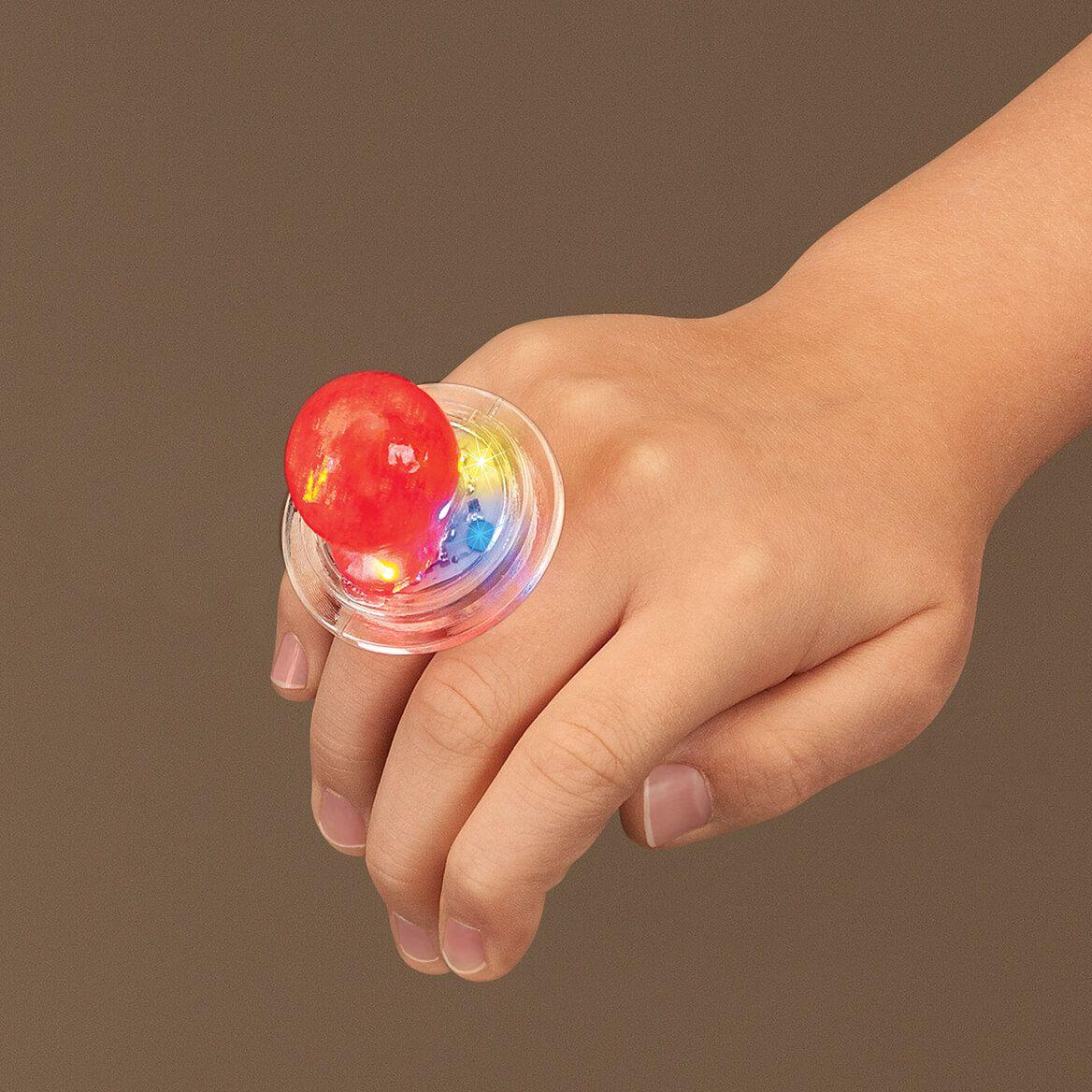 Bling Ring Flashing Light-Up Candy Ring-372413
