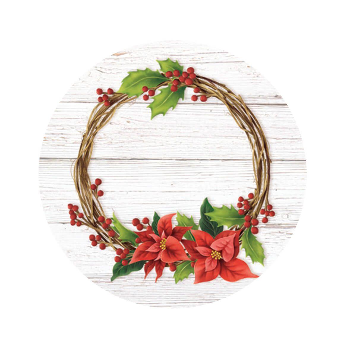 Floral Wreath Envelope Seals, Set of 48-372514