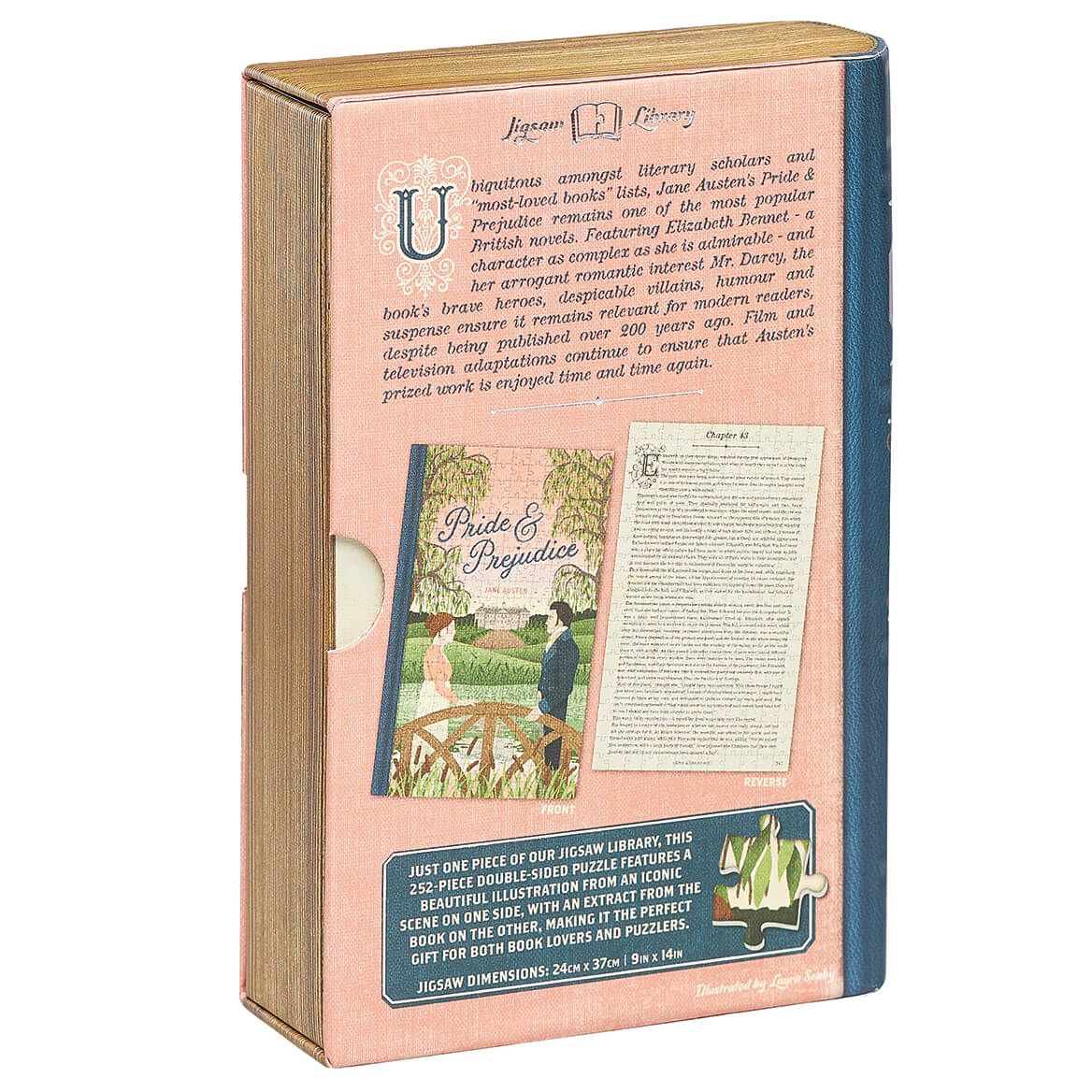 """Jigsaw Library """"Pride & Prejudice"""" 2-Sided Puzzle-372660"""