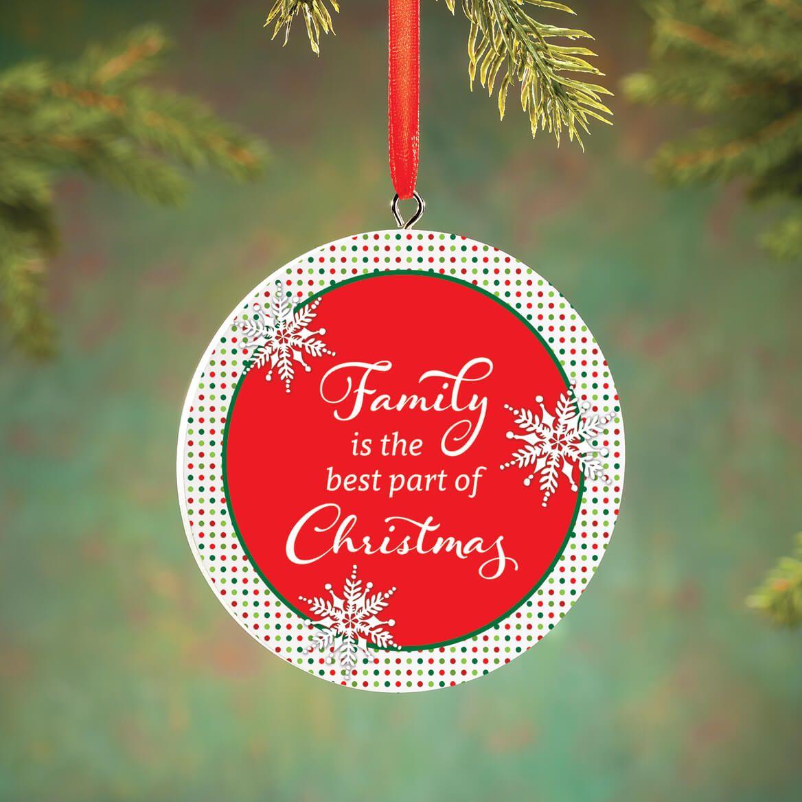Personalized Polka Dot Family Christmas Ornament-372721