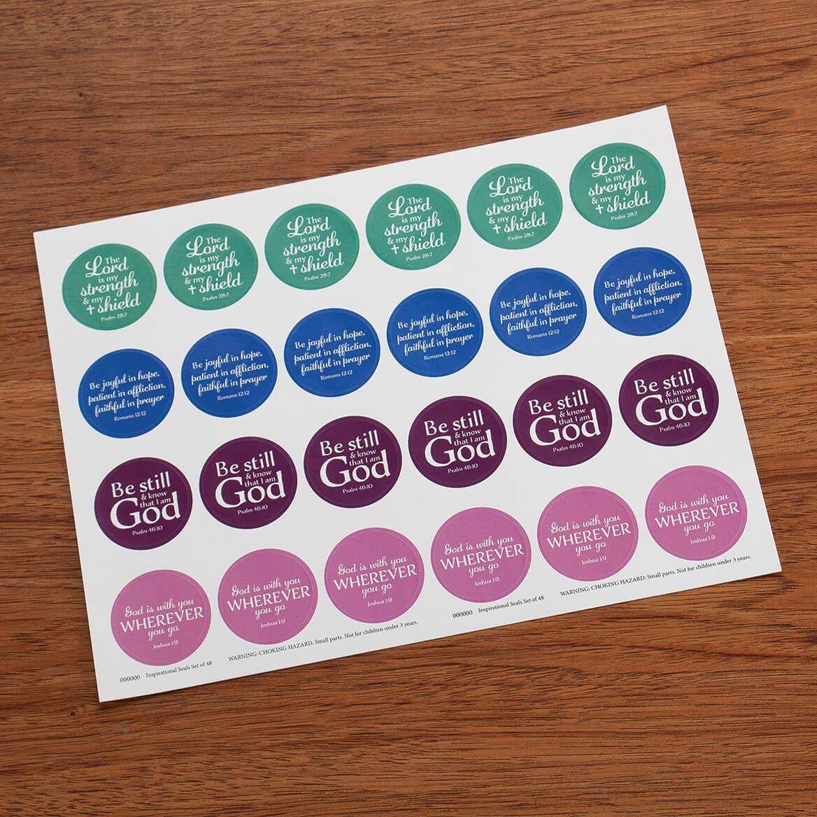 Inspirational Envelope Seals, Set of 48-372756
