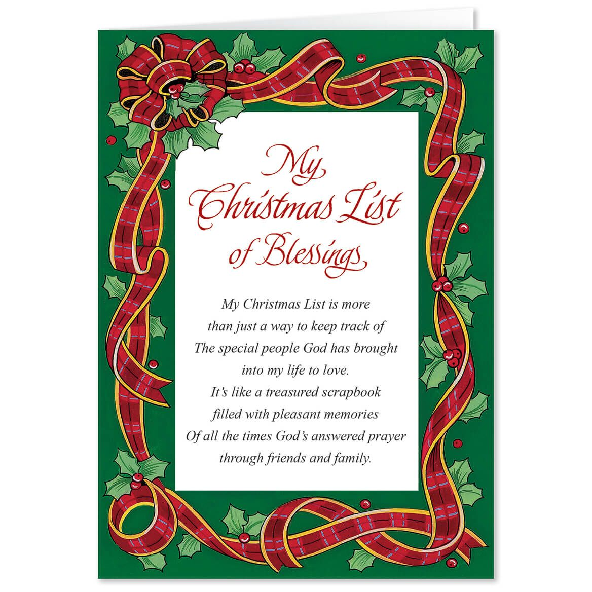 Personalized My Christmas List Christmas Card Set of 20-300077
