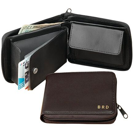 Leather Zipper Wallet-303263
