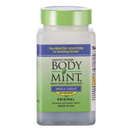 Body Mint® Body Odor Pill - 60 Tablets-303425
