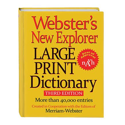 Websters® Large Print Dictionary-306768