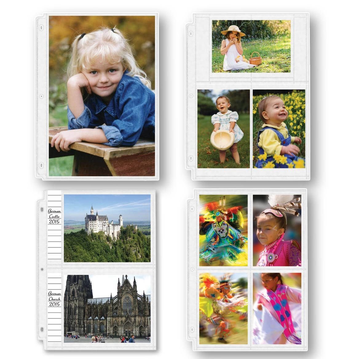 Photo Album Pages – Double-Weight Assorted Photo Pages-309370