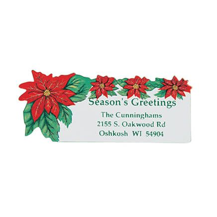 Poinsettia Return Address Labels - Set of 250-310886
