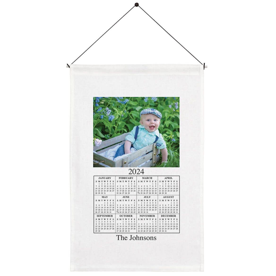 Personalized Photo Calendar Towel-310892
