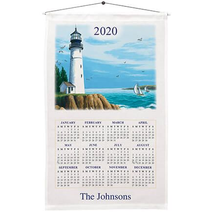 Personalized Lighthouse Calendar Towel-310964