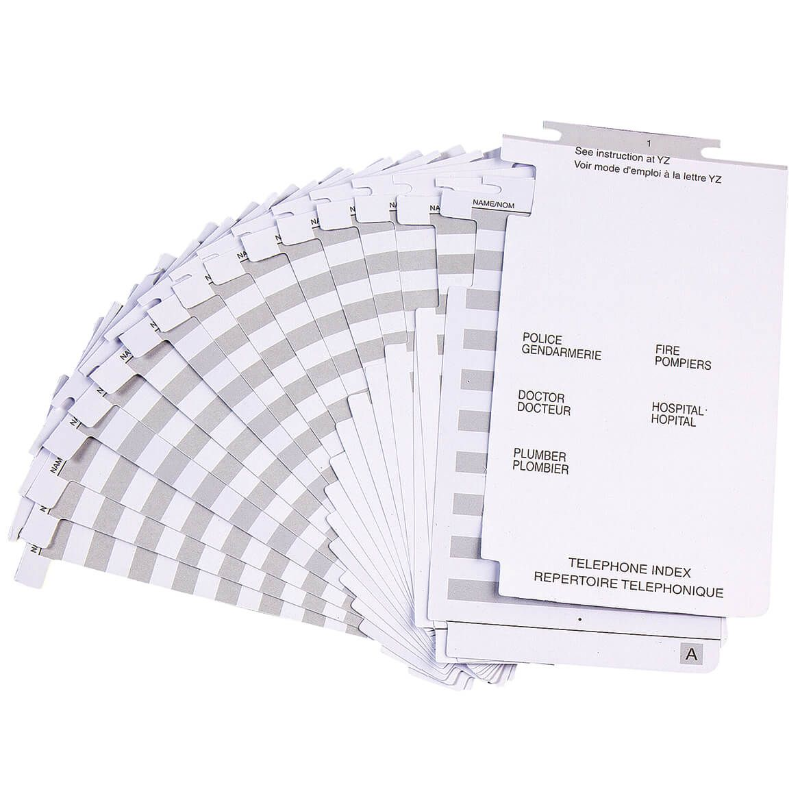 Telephone Index Refill Pages-311477