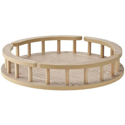 Large Wood Lazy Susan-311686