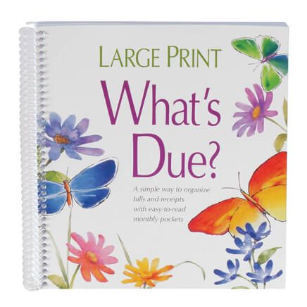 Whats Due Bill Organizer Book-311828