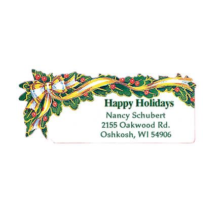Holly And Ribbon Return Address Labels - Set of 250-311839