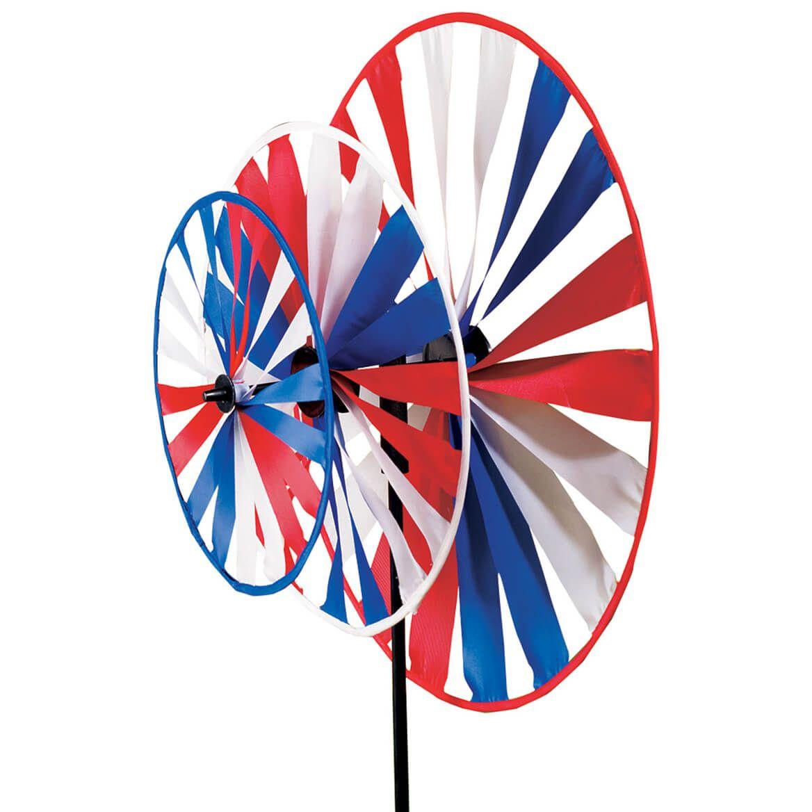 Patriotic Triple Pinwheel Windspinner-311952