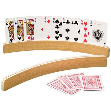 Curved Wooden Card Holders Set/2-312462