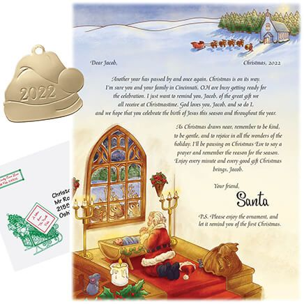 Personalized Inspirational Santa Letter and Ornament-312650