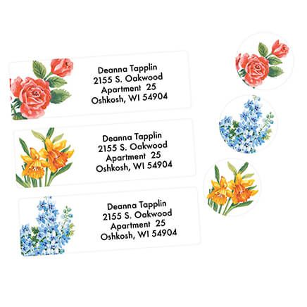 Floral Address Labels & Seals - 250-312894