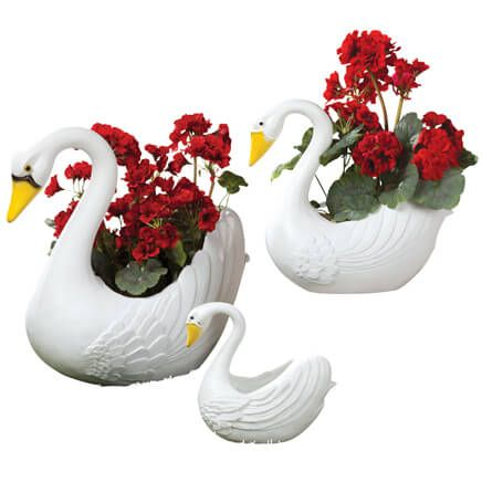 Swan Planters Set of 3-313123