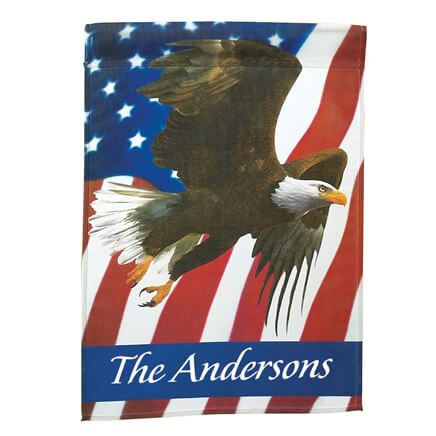 Personalized Patriotic Eagle Garden Flag-313584