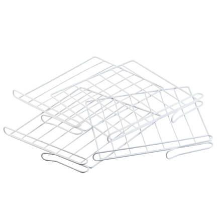 White Wire Closet Shelf Dividers - Set Of 4-314012