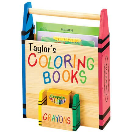 Personalized Coloring Book Caddy-315567