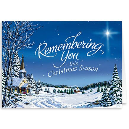 Personalized Remembering You Christmas Card Set of 20-318326