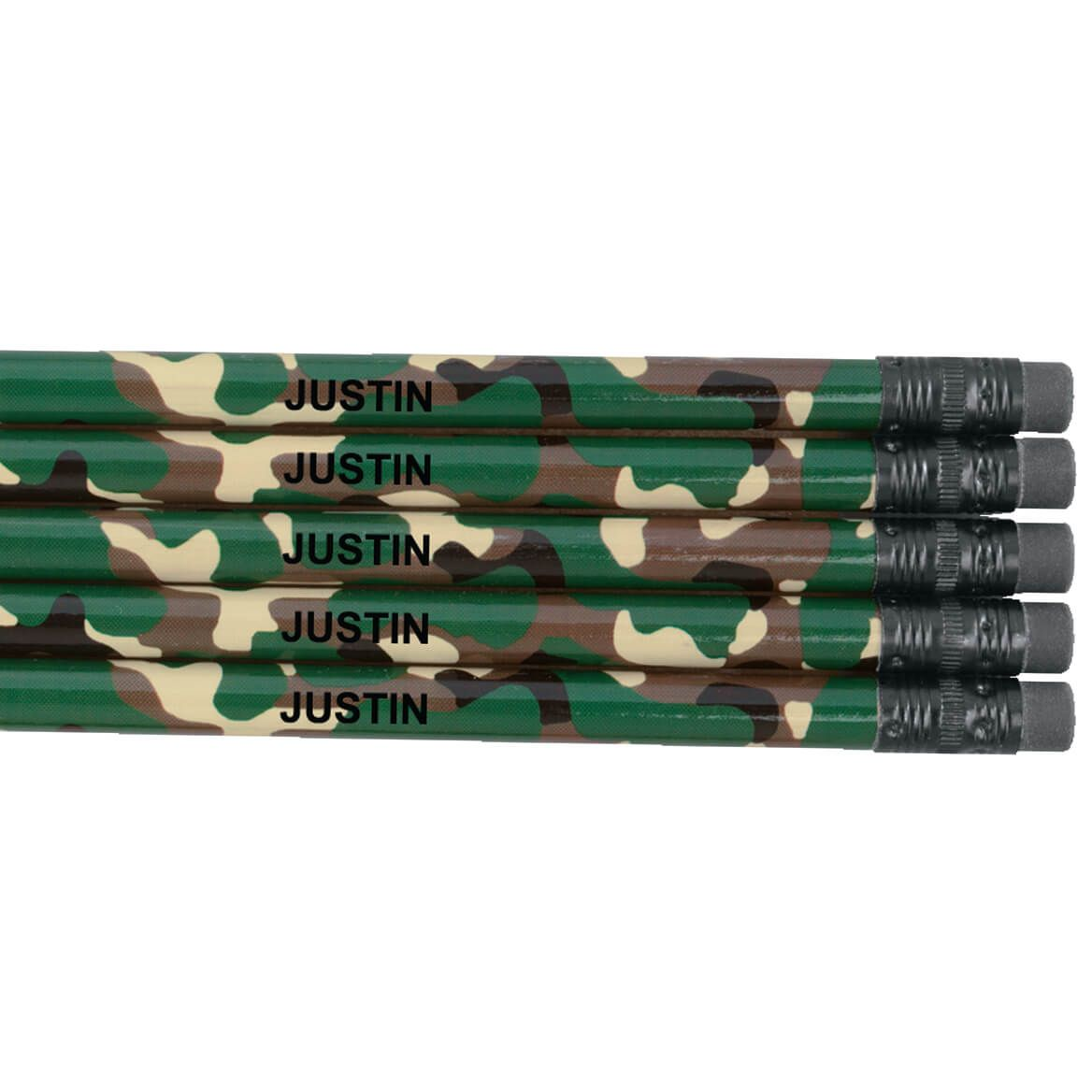 Personalized Round Camouflage Pencils Set of 12-325443