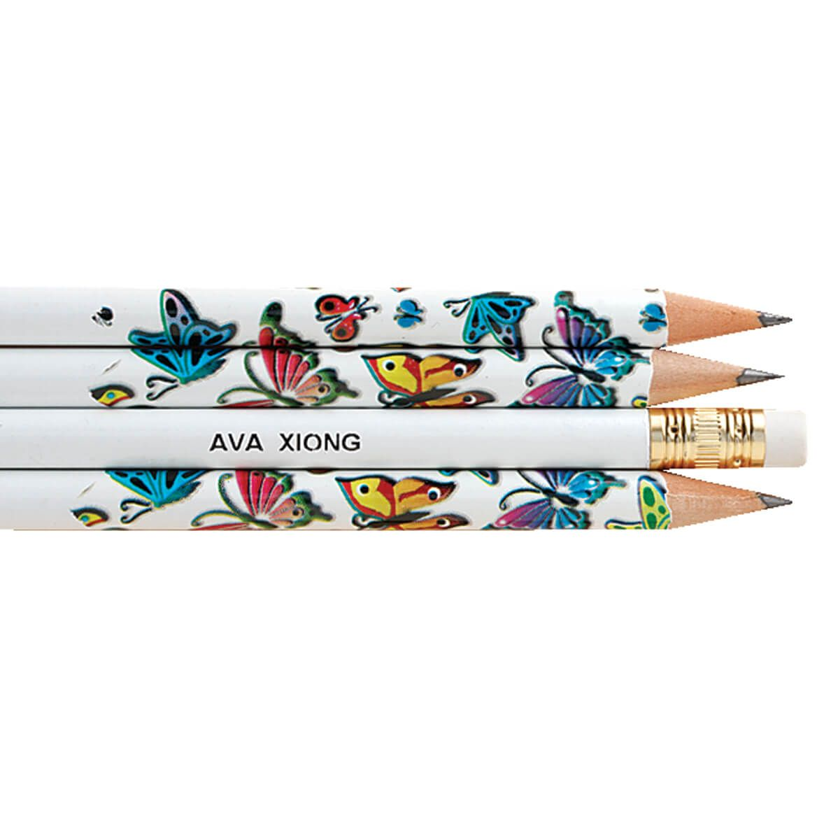 Personalized Butterfly Pencils, Set of 12-325445