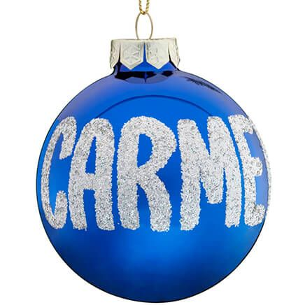 Personalized Name And Date Glitter Ornament-330368