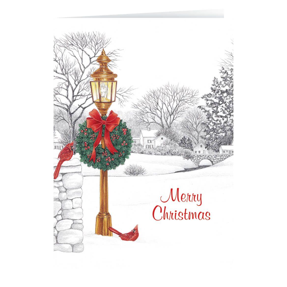Lamppost Christmas Card Set of 20-330670