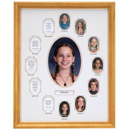 School Years Collage Frame - Beige-334005