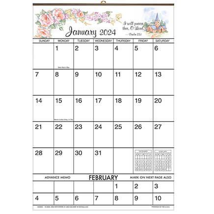 Bible Verse Designer 1 Yr Giant Calendar-334062