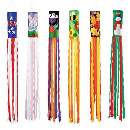 Holiday Windsocks Set of 6-338067