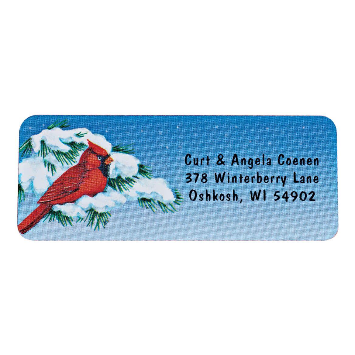 Snowy Cardinal Labels - 250-338748