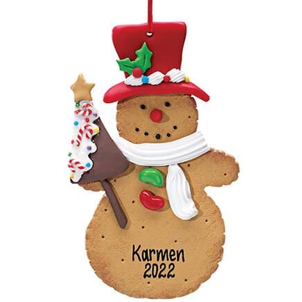 Personalized Snowman Cookie Ornament-339034