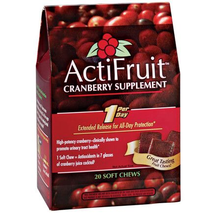 ActiFruit™ Cranberry Supplement Chews - 20 Count-340905