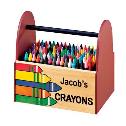 Personalized Wooden Crayon Caddy-342456