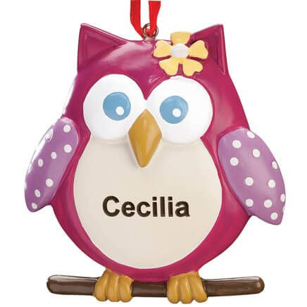 Personalized Sweet Owl Ornament-342592