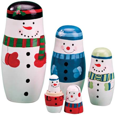 Snowman Nesting Dolls-342897