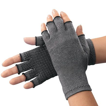 Light Compression Gloves With Grippers - 1 Pair-344502