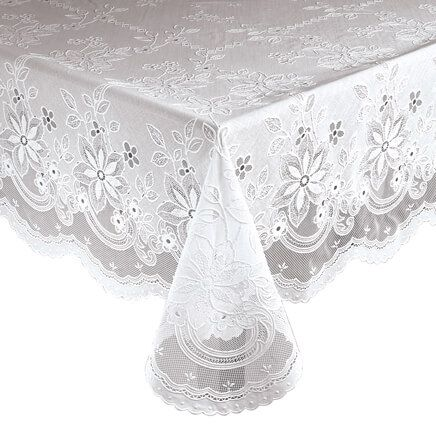 Elegant Floral Vinyl Lace Table Cover-344554