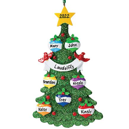 Personalized Glitter Tree Ornament-346137